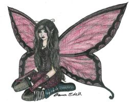 gothic Fairy by MysticFairytales
