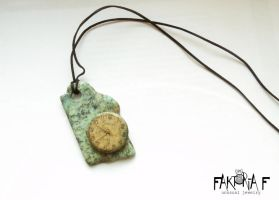Mouldy Clock Pendant by faktoria-f