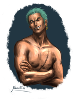 Art trade: Zoro by Jeannette11