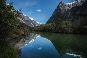 Here We Are On The Milford Track by AndyLewisArt