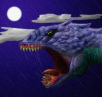Monster in the rain by Finward-Erendash