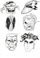 Comic Book Heads by UnknownX
