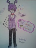 [Five Nights At Freddy's] Humanized Bonnie Design by EliXSora4Evr