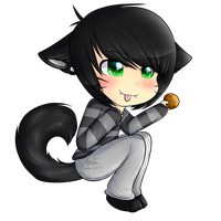 Emo Neko has a cookie by CooI