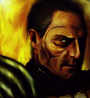 Mark Strong as Zaeed by thavengersinitiative