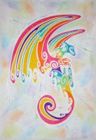 Rainbow dragon by Esmeekramer