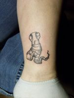 Anxiety Leech Tattoo by midnightsubmission