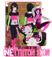 (+600) Mettaton Skin for YANDERE SIMULATOR~ [FREE] by cleandesu