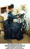 Victorian Typewriter Girl 001 by MADmoiselleMeliStock
