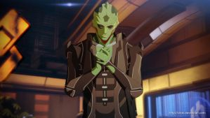 Mass Effect anime style Thane by virak