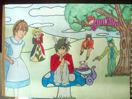 Death Note in Wonderland by yoliee