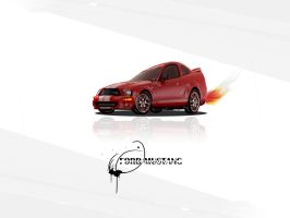 Ford Mustang Wallpaper by TraX1m