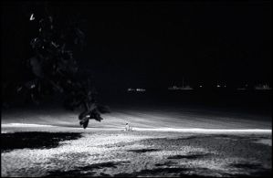 Night beach by ESafian