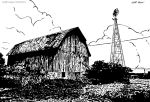 Old Barn (Ink) by KeithMeyerArt