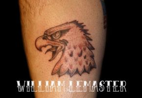 Traditional Eagle Black and Gray - Tattoo by Bill by SmilinPirateTattoo