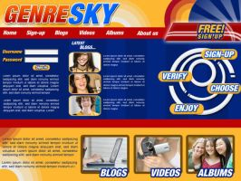 Genre-Sky Website Design 1 by Noah0207