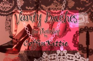Vanity Brushes For Photoshop by coffinkittie