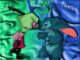 ZIM VS STITCH by Valkyrie1981