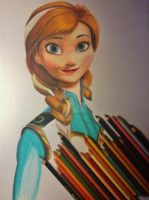 Anna - Coloured Pencil - W.I.P by AlexFentonDesigns