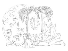 Earth God - Lineart by Mila-Valentine