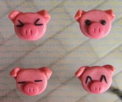 Piggy Magnets by xXnijuuniXx