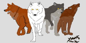 horrible drawing of some characters of wolf rain by XanderCakes