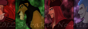 some Disney villains by The-PirateQueen