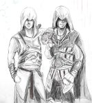 Altair and Ezio by Kobylkavpyzamu