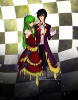 Code Geass: Lelouch x CC by ShadowsIllusionist