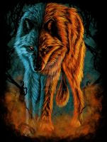 fire and ice wolf by fathi-dhia