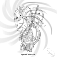 Ultimate Tobi Chibi Sketch Request by Gingersnap87