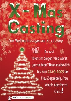 christmas casting flyer by MCMaybach