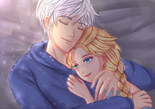 Jack Frost x Elsa: Loved by Edraviciel
