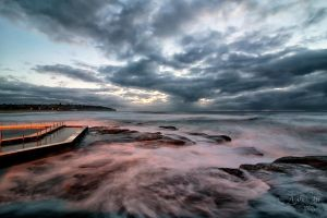 South Curl Curl sunrise at the Ocean pool by jaydoncabe