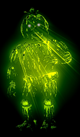 Neon Phantom Chica by Cosmicmoonshine