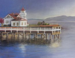 Lighthouse in Mukilteo by Onepurpledragonfly