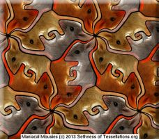 Maniacal Mice Tessellation, v.2 by sethness
