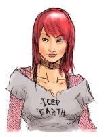 Iced Earth Metal GirL by fleng