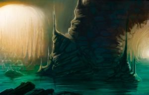 Flooded Cave by Lyraina