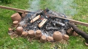 Bronze Age Pottery - Firing Begins by FeatherInTheAir