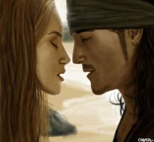 Elizabeth Swann y Will Turner by OmaruIndustries