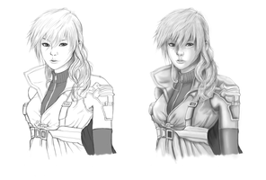 Lightning FF13 digital sketch by Angy89