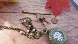 Mechanical Watch Necklace Movement by artistiquejewelry