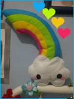 Rainbow and Cloud Plush by Chiaki87