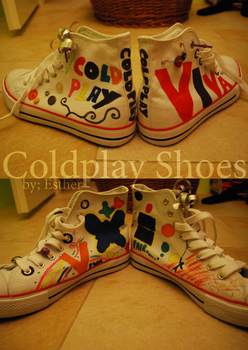 Coldplay Shoes by xPrincEstherr