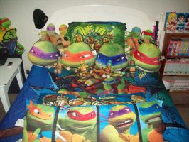 My TMNT Bed by animelover2day