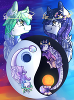 The Sun and The Moon by CoolMDrawings