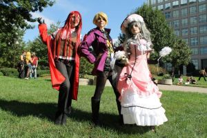 Black Butler: Unexpected Trio by PoeticPerson