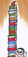 LOKs Tower of Books - Bookmark by tea-bug