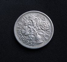British Silver Sixpence by LughoftheLongArm